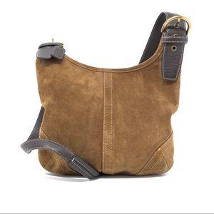 Coach 9506 Vintage Suede & Leather Crossbody Bag